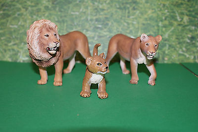 "Schleich Lion Family ""King of the Jungle"" Male, Female & Cub Set of 3"