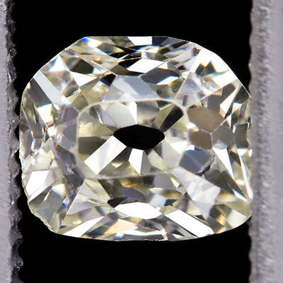 VINTAGE 0.54ct RARE OLD MINE CUT TRAPEZOID DIAMOND HALF MOON NATURAL ANTIQUE CU