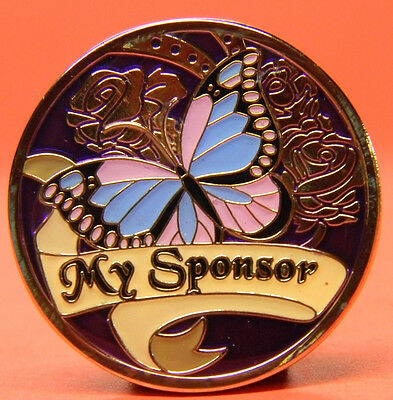 Fancy Enameled Recovery Chip - Medallion - Sobriety - My Sponsor