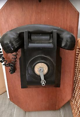 Antique  Authentic Wall Wind-up Telephone, Excellent Condition
