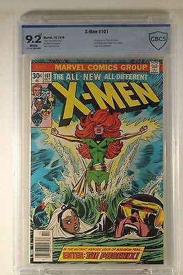 Marvel Uncanny X-men #101 Graded CBCS 9.2 PLUS White 1st App Origin of Phoenix