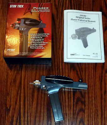 2007 Star Trek Phaser Original Series 3 in 1 Universal  TV Remote Control - New