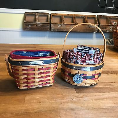 LONGABERGER - Inaugural Basket Set Lot 1997 & 2001