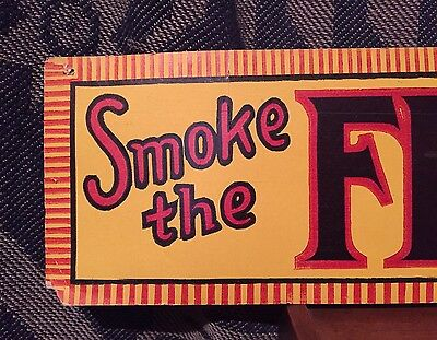 Antique Primitive General Store Advertising Cardboard Tobacco 5¢ Cigar Sign AAFA