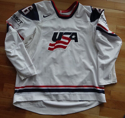 Game Worn Used Hockey Jersey - Ryan Shannon - 2011 IIHF World Championships