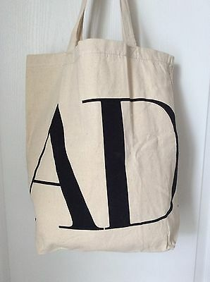 NEW Architectural Digest AD Subscriber Large Canvas Tote Shopping Grocery Bag