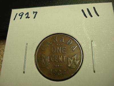 1927 - Canada circulated 1 cent coin - Canadian penny