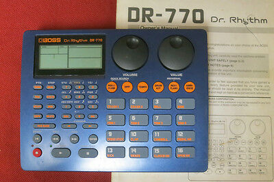 BOSS DR-770 Rhythm drum machine dr770 ~w/ Owner's Manual, NO Power Supply