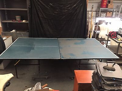 Ping Pong Table Tennis Table Foldable 2 Pieces On Wheels