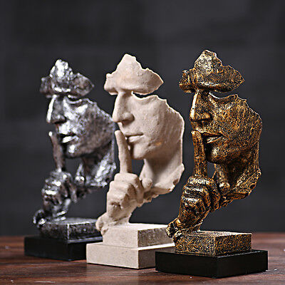 13.7inch Face Sculpture Statue Abstract Modern Art Deco & free shipping