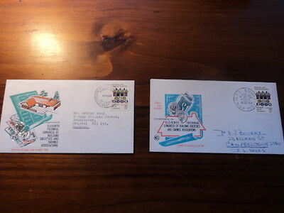 Set of 2 Australia first day cover FDC 1968 Building & savings societies