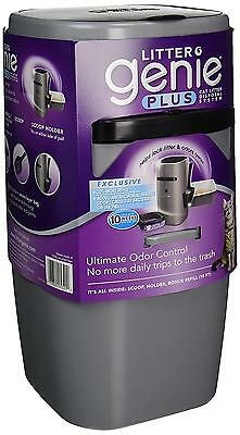 Litter Genie Plus Cat Disposal System with Odor Free Pail System, Silver
