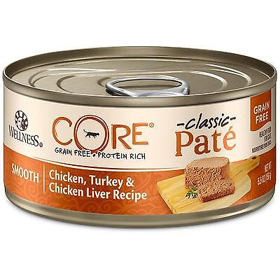 Wellness CORE Natural Canned Grain Free Wet Cat Food, Chicken Turkey Pate,...
