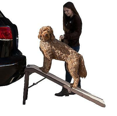 Pet Gear Free Standing Ramp for Cats and Dogs up to 200 Pound, Chocolate