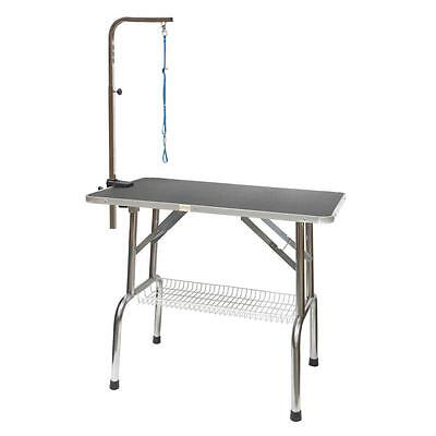 Go Pet Club GT 201 30 Inch Heavy Duty Stainless steel Dog Grooming Table...
