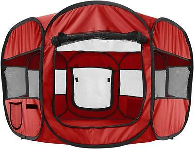 OxGord 8 Panel Pop Up Tent with Carry Bag Portable PlayPen for Pets, 48 by...