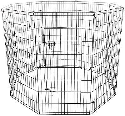 OxGord 8 Panel Folding Wire Exercise Pen with Door for Pets, 163 x 122cm LxWxH