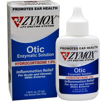 2 Pack Zymox Otic With 1.0 Hydrocortisone 1.25 Oz Bottle