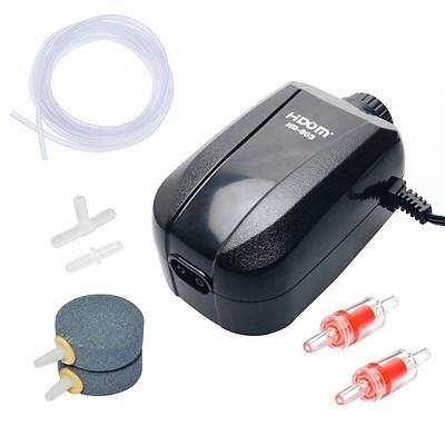 Pawfly Adjustable Aquarium Air Pump 4 LPM 2 Outlets with Oxygen Accessories...