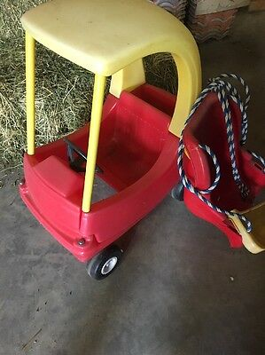 Little Tikes Car And Fisher Price Swing