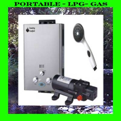 Hottap outing portable lpg gas hot water heater system for Hot water heater 101