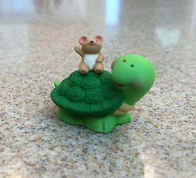 Vintage Hallmark Merry Miniatures 1991 Everyday Summer Turtle With Mouse On Back