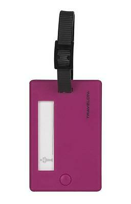 Travelon Set Of 2 Luggage Tags, Berry, One Size