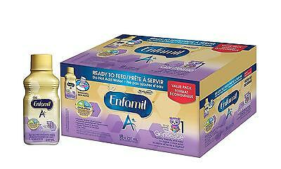 Enfamil A Gentlease Ready To Feed Bottles, 18 Case, 4950 Milliliter