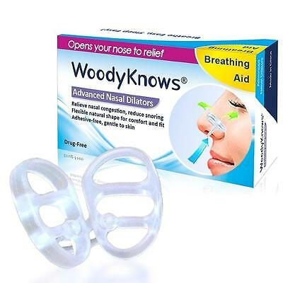 WoodyKnows Invisible Nasal Dilators, New Model, SML, 3 Counts