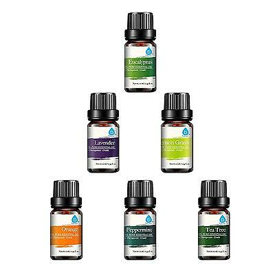 Pursonic 100 Pure Essential Aromatherapy Oils Gift Set 6 Pack , 10ML...