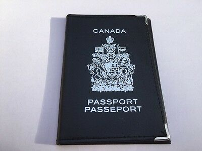 Canadian Pleather Plastic Passport Protector Cover Canada