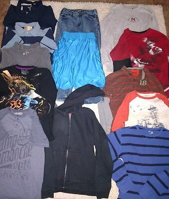 11 Piece Boy's Size 10-12 SUMMER&FALL SHIRT'S~Gap & Name Brands +Athletic shorts
