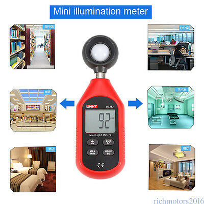UNI-T UT383 Digital Luxmeter Light Meter Lux FC Meters Luminometer Photometer WZ