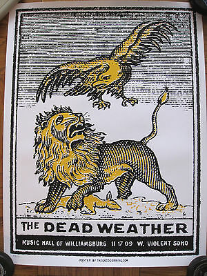 Dead Weather Poster Jack White 2009 Williamsburg Brooklyn Third Man Lmtd Of 190