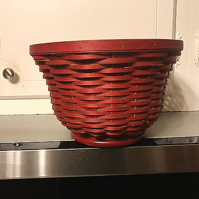 LONGABERGER - 2010 Revere Bowl Red Stain Signed