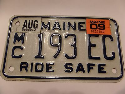 Maine Motorcycle License Plate 193 Ec