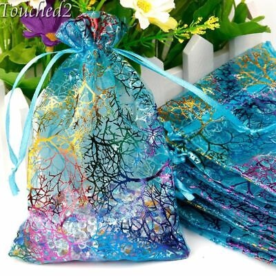 100Pcs 7x9cm 9x12cm Coralline Organza Bag Wedding FavorJewellery Candy Gift Bags