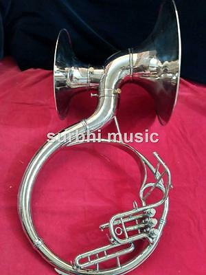 "Sousaphone 22"" Double Bell Silver Chrome Nickle Polish With Free Case & Mouth Pc"
