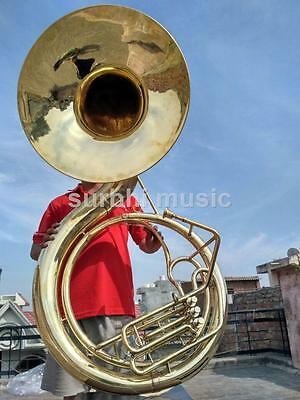 "Sousaphone Big Jumbo Size 25"" in Gold Lacquer With Free MouthPc & Box & Shipping"