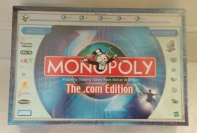 The .com Edition Monopoly Board Game 2000 - Hasbro Parker Brothers - New Sealed