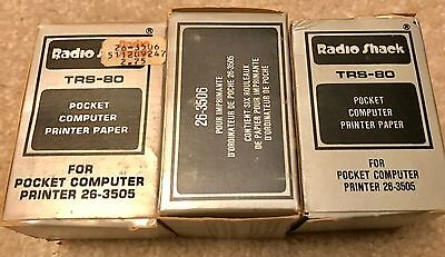 VINTAGE RADIO SHACK TRS-80 POCKET COMPUTER PAPER FOR PRINTER 26-3505 - 17 Rolls