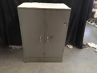 Vintage Metal Storage Cabinet Steelbilt 3 Shelves