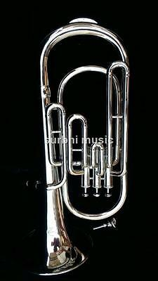 Baritone in Silver Chrome 3 Valve High Bb Pitch With Free Case & M/P & Shipping