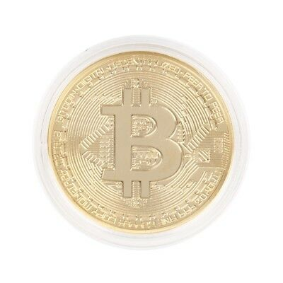 Gold Plated Bitcoin Coin Collectible Gift BTC Coin Art Collection Physical DT