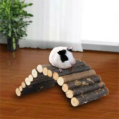 Natural Willow Wood Fence/ Bridge Toys For Hamster Guinea Pigs Small Animal Pets