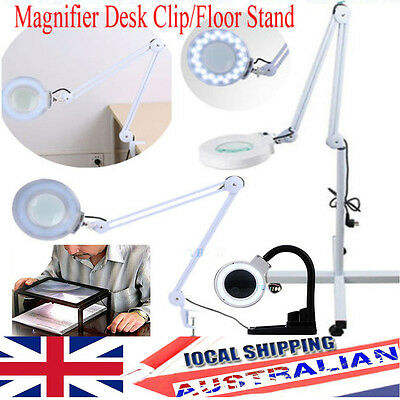 NEW Magnifying Lamp LED 5 Inch SMD 5 Diopter magnifier desk light White Black 5X