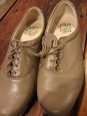 SAS Leather Tripad Comfort OXFORD Shoe Lace-Up Womens Size 9.5 Mocha NEW!!