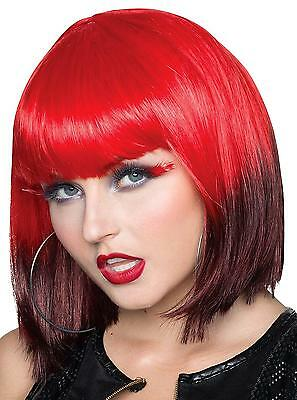 Rubie's Costume Co Women's Ombre Wig, Red Brown, One Size