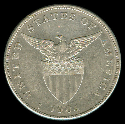 1904-S US Philippines 1 Peso  Crown Size Silver Coin #A6