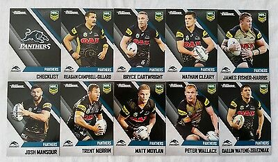 NRL 2017 Trading Cards Penrith Panthers full set of 10